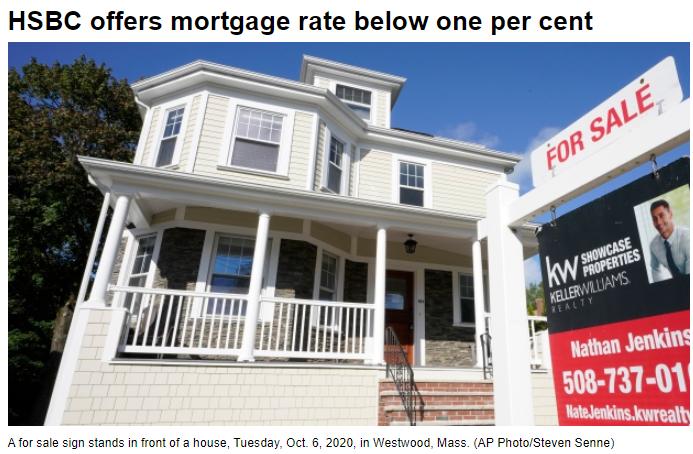 首次出现!加拿大房贷利率惊现0.99%历史