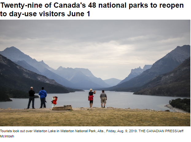 加拿大一半国家公园6月1日正式重开!安省