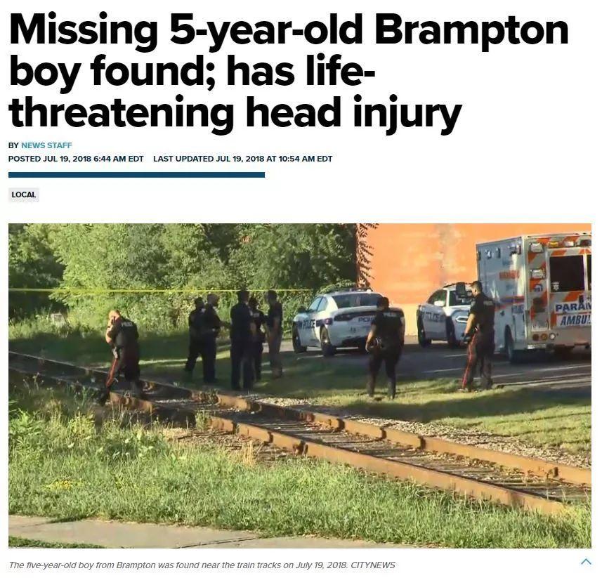 多伦多5岁男孩离奇从家中失踪,被发现时