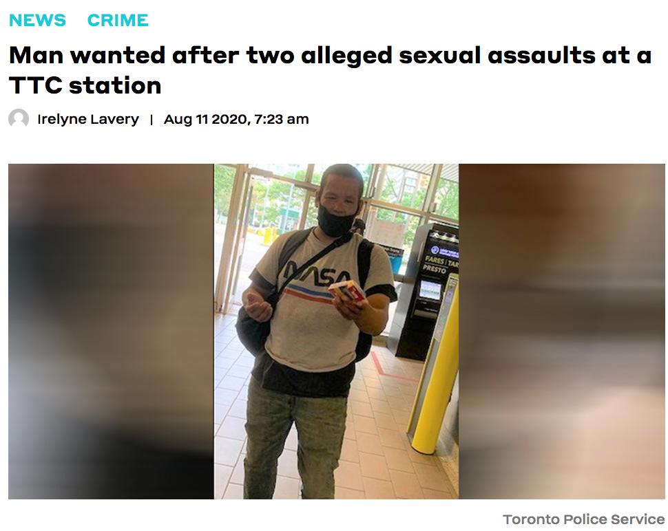 人间极品!多伦多变态男TTC车站连续性侵