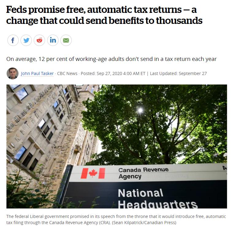超多人漏领福利!加拿大可能马上推出免费