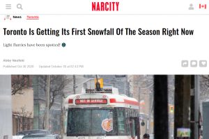 刚刚!多伦多下雪了~本周末安省迎来暴雪+