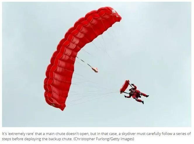 加拿大妹纸玩跳伞!降落伞打不开1500米高